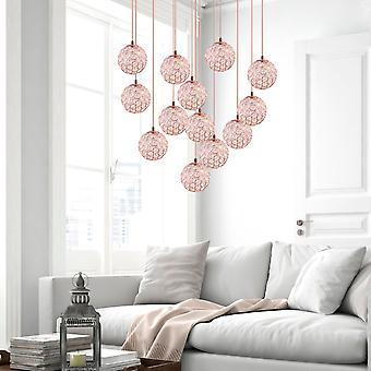 Hanging Copper Thirteen Pendant Light Ceiling Lamp Living Room Light Round Canopy