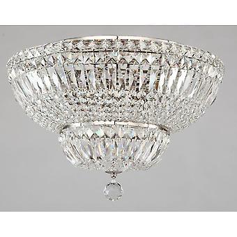 Maytoni Lighting Basfor Diamant Crystal Ceiling Lamp, Nickel