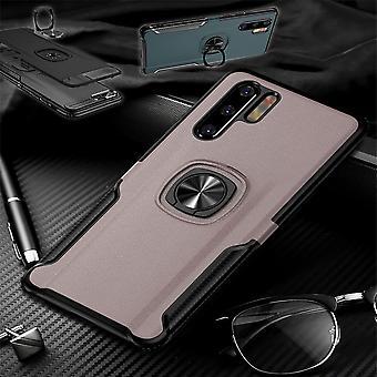 Für Huawei P30 Pro Magnet Metall Ring Hybrid Case Pink Tasche Hülle Cover Etuis Schutz