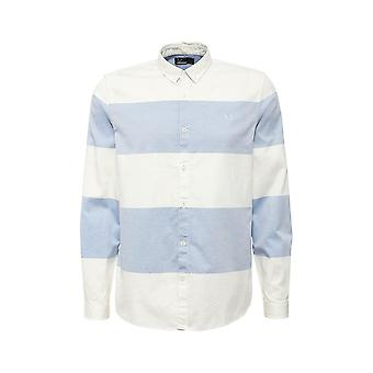 Fred Perry Men's Textured Stripe Long Sleeve Shirt - M7284-254