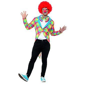 Colorido payaso cuadros vestido circo de los hombres