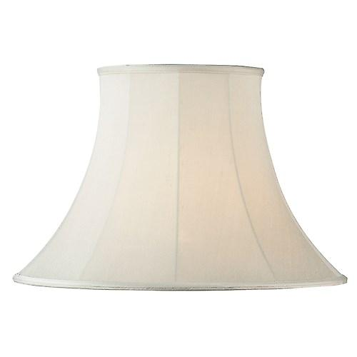 Endon CARRIE-22 Carrie Cream Fabric Lamp Shade Round Bell Shape - 22 Inch