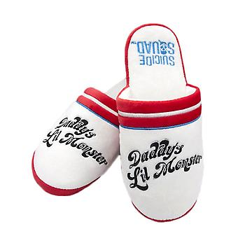 Women's Suicide Squad Harley Quinn Daddy's Lil Monster Mule Slippers  - ONE SIZE