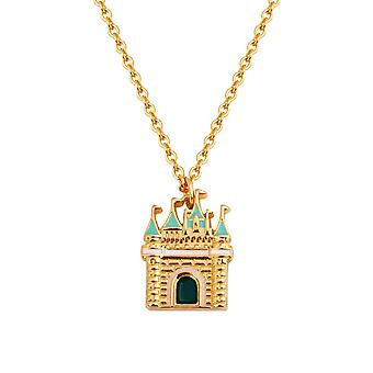 Disney Gold-Plated Cinderella Magic Castle Necklace