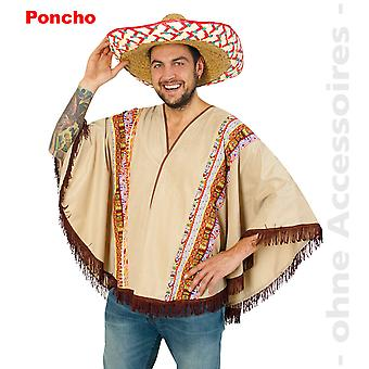 Western Wild West Indian Mexican poncho mens costume