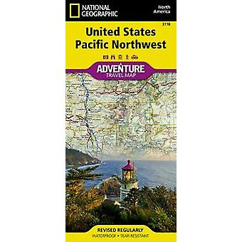 United States - Pacific Northwest Adventure Map by National Geographi