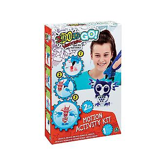 Ido3d Cool Create Go! Owl And Panda Motion Activity Kit