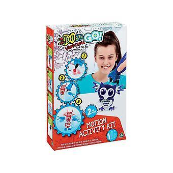 Ido3d Cool Create Go! Kit de actividad de movimiento de búho y panda
