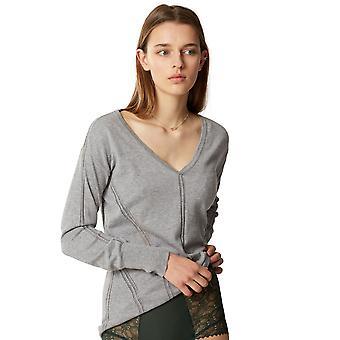Maison Lejaby 171397-966 Women's Softwear Grey Loungewear Pyjama Top