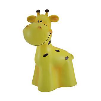 Charmant jaune et noir girafe enfants argent banque