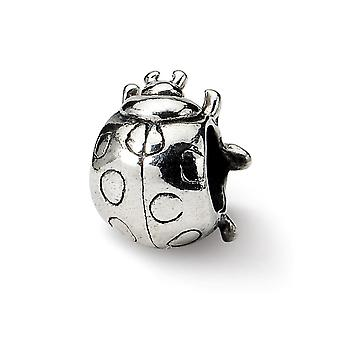 925 Sterling Silver Antique finish Reflections Ladybug Bead Charm