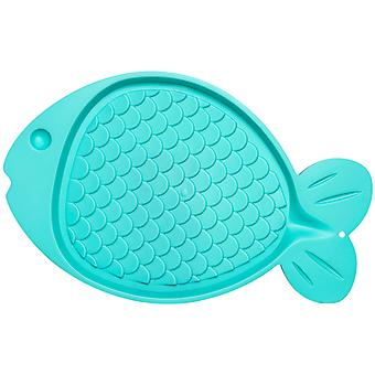 Bella Spill-Proof Fish Shaped Cat Mat 19