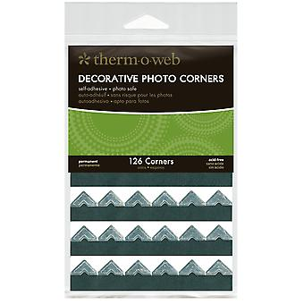 Decorative Photo Corners 126 Pkg Silver Pcs126 3879