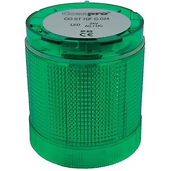 Signal tower component LED ComPro CO ST 70 Green Non-stop light signal, Flash, Emergency light 24 Vdc, 24 Vac 75 dB