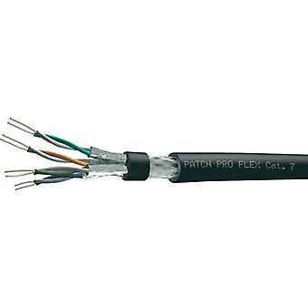 Network cable CAT 7a S/FTP 4 x 2 x 0.14 mm² Black DRAKA 1017889 Sold per metre