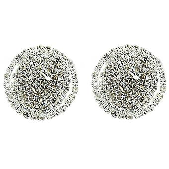 Clip On Earrings Store Diamante Crystal Round Clip On Earrings