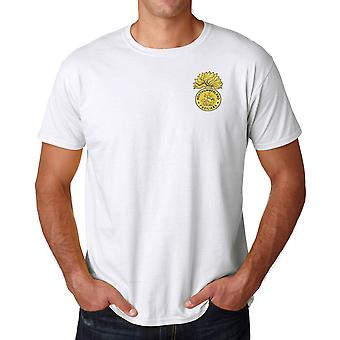 The Northumberland Fusiliers Embroidered Logo - Official British Army Cotton T Shirt