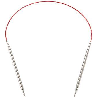 Red Lace Stainless Steel Circular Knitting Needles 16
