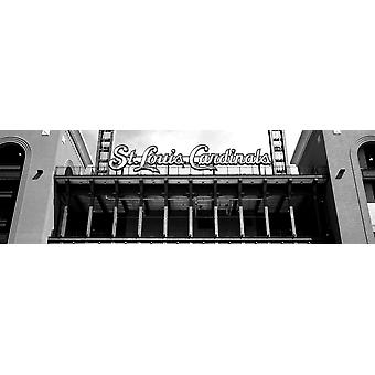 Low angle view of the Busch Stadium in St Louis Missouri USA Poster Print