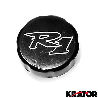 Motorcycle Fluid Black Reservoir Cap Logo Engraved For 1998-2000 Yamaha YZF R1