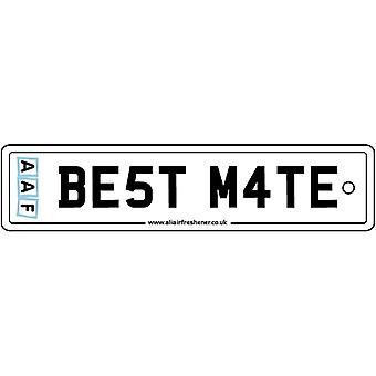 AAF - Best Mate License Plate Car Air Freshener