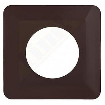 Light Switch Socket Finger Cover Plates Surround Edge - White/brown Colour