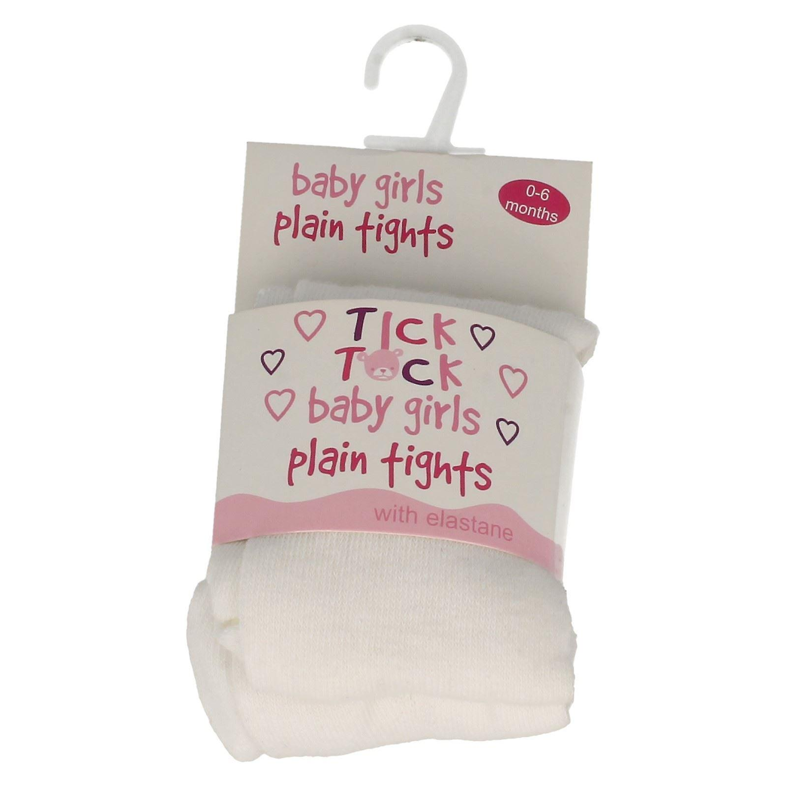 Baby flickor Tick Tock oformaterad Tights