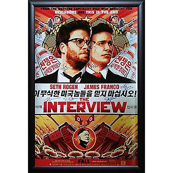 The Interview - Signed Movie Poster
