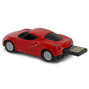 Official Alfa Romeo 4C Sports Car USB Memory Stick 16Gb - Red