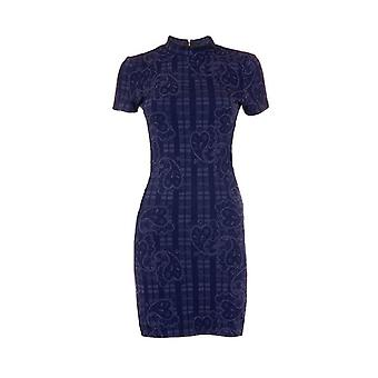 Topshop Paisley Short Sleeve Body Con Dress DR840-12