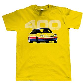 Manta 400, Classic groep B Rally Mens auto T Shirt