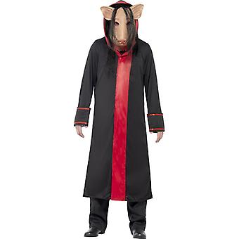 Sega mens licenza costume costume da maiale Sawkostüm taglia M