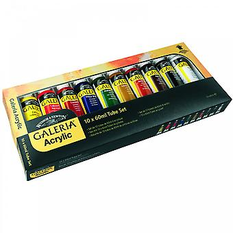 Winsor & Newton Galeria 10 Tube Set 60ml