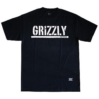 Grizzly Griptape OG Stamp Logo T-Shirt Black