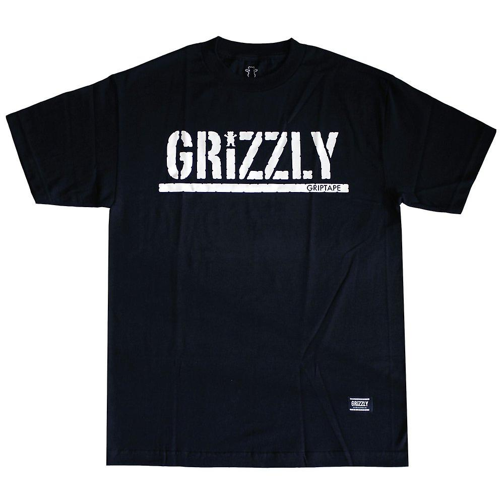Grizzly Griptape OG Stamp Logo T-Shirt Black