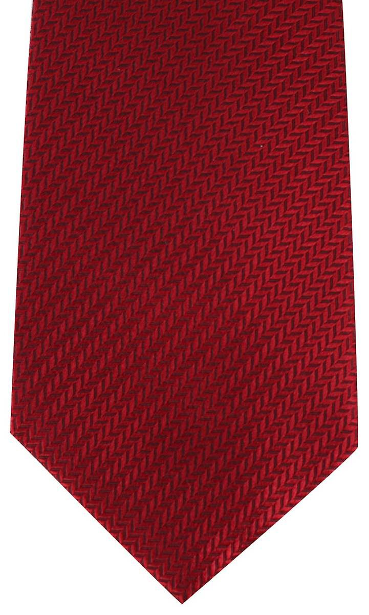 David Van Hagen Herringbone Tie - Red