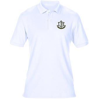 Isreali Defense Force IDF Embroidered Logo - Mens Polo Shirt