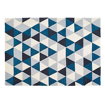 Nid d'abeilles origines Rectangle bleu tapis tapis tapis Funky
