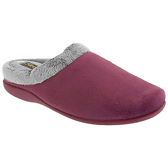 Sleepers Womens/Ladies Glenys Collar Plush Velour Mule Slippers