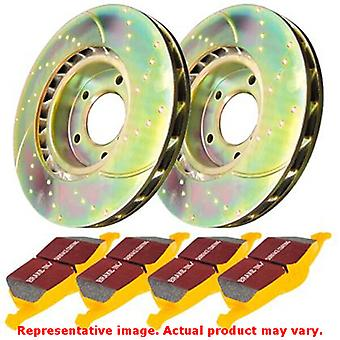 EBC Brake Kit - S5 Yellowstuff and GD Rotors S5KR1254 Fits:FORD  2005 - 2007 F-