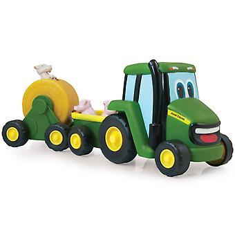 Tomy John Deere tractor with animals