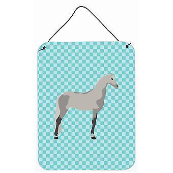 Trotón de Orlov caballo Check azul pared o puerta colgantes grabados
