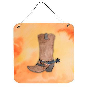 Cowboy Boot Watercolor Wall or Door Hanging Prints