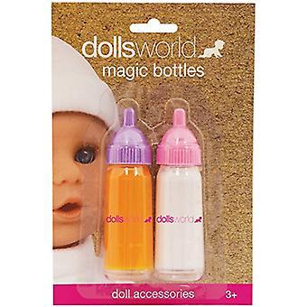 Dolls World mjölk & Juice magiska flaskor