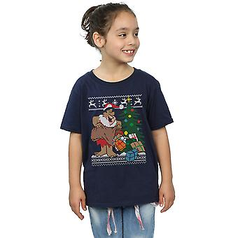 The Flintstones Girls Christmas Fair Isle T-Shirt