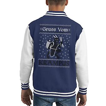 Varsity Jacket Gruss Vom Krampus Natale Knit Pattern capretto