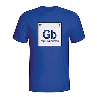 Gianlugi Buffon Italie Tableau périodique T-shirt (bleu)