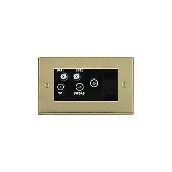 Hamilton Litestat Cheriton vitoriano polido bronze TV + FM + 2XSAT + TCS + TVF BL