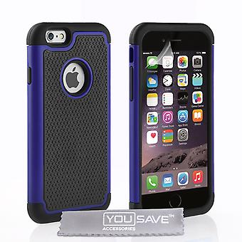 iPhone 6s Grip Combo Silicone Case - Blue-Black