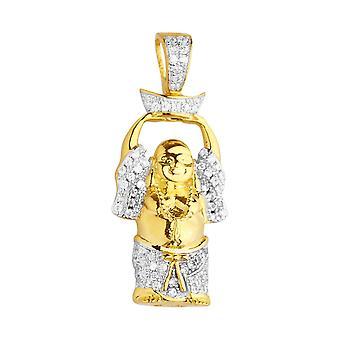 Premium Bling - 925 sterling silver mini Buddha pendant